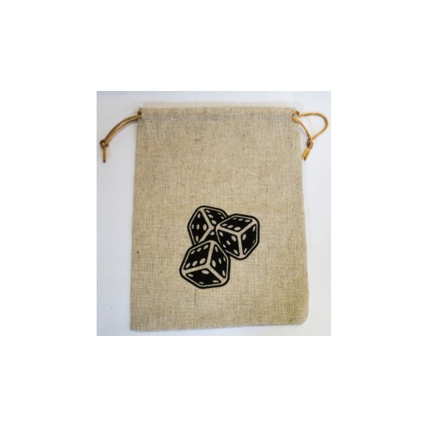 Blackfire Flax Dice Bags 15x20CM with Logo