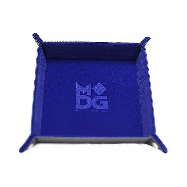Dice Tray - Metallic Dice Games - Velvet: Blue