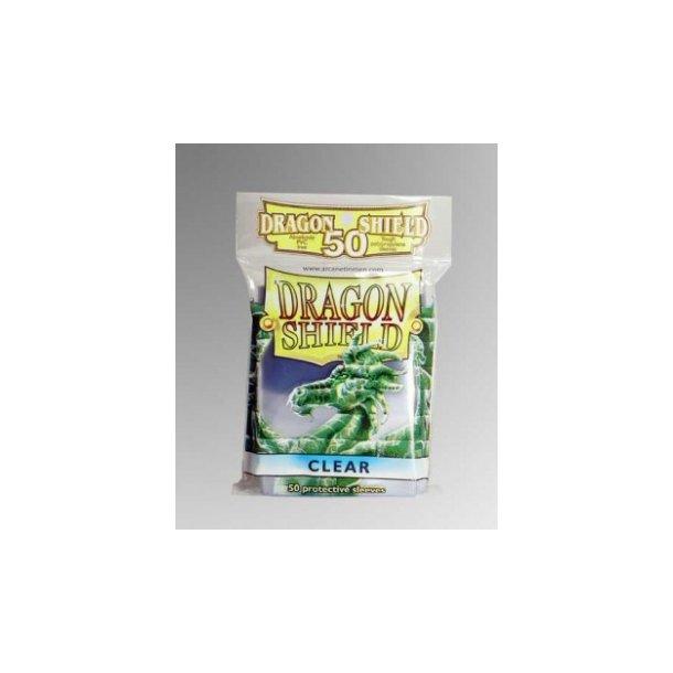 Dragon Shield Standard Sleeves - Clear (50 Sleeves)