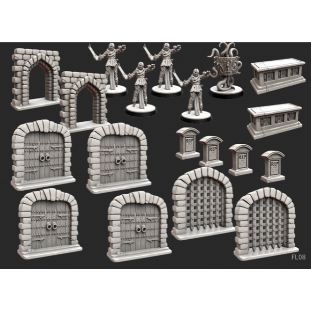 Folklore: The Affliction - Terrain Miniature Pack