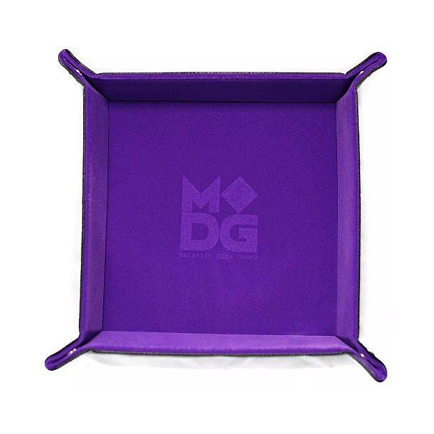 Dice Tray - Metallic Dice Games - Velvet: Purple