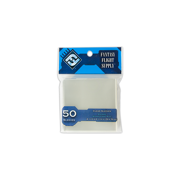 FFG Supply Clear Sleeves - Card Sleeves: Square(BLUE) - EN